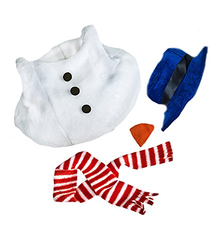 Snowman w/Hat, Scarf, and Nose Teddy Bear Clothes Fits Most 8