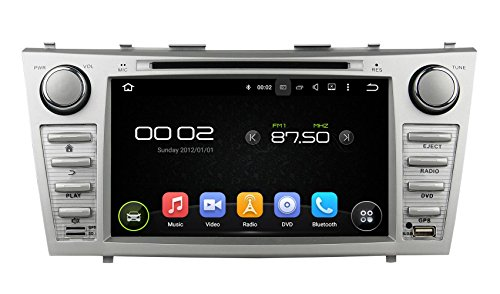 XTTEK 8 inch HD 1024×600 Multi-touch Screen in dash Car GPS Navigation System for Toyota Camry 2007-2011 Quad Core Android DVD Player+Bluetooth+WIFI+SWC+Backup Camera+North America Map For Sale