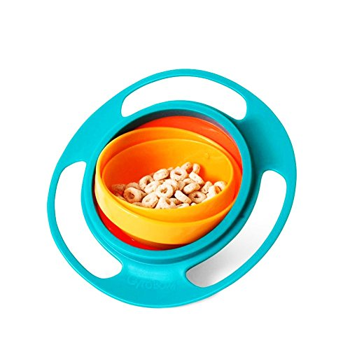 Baby Bowl Children Tableware Non Spill Bowl Toy Dishes Universal 360 Rotate Avoid Food Spilling Food Snacks Bowl Lunch Box Children - Kids Toys Tableware Bowls