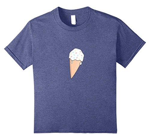 Kids Vanilla Ice Cream Shirt National Ice Cream Cone Day T Shirt 12 Heather Blue
