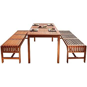 Amazon Com Outsunny 3 Piece 71 Quot Acacia Wood Outdoor