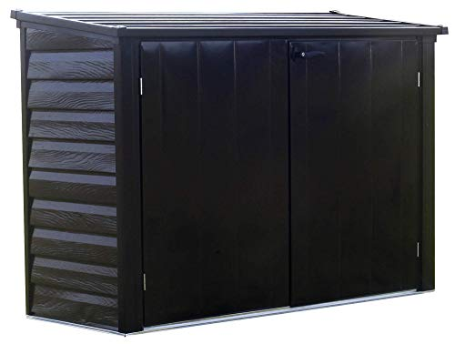 - Arrow Spacemaker Galvanized Steel Storage Shed with Lockable Handles, 6' x 3'