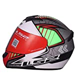 LS2 Full Face Premium Helmet FF 352 SPOOL WITH MERCURY VISOR (Large, WHITE GREY GREEN MATT)