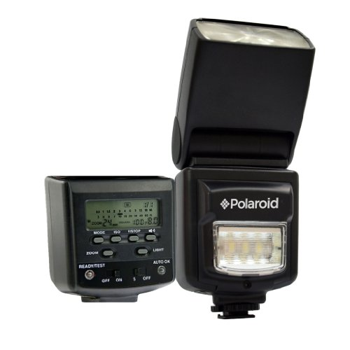 Polaroid PL-160DN Studio Series Digital Power Zoom TTL Shoe Mount AF ''Dua'' Flash With LCD Display + Built In LED Video Light For The Nikon D40, D40x, D50, D60, D70, D80, D90, D100, D200, D300, D3, D3S, D700, D3000, D5000, D3100, D3200, D7000, D5100, D4, D by Polaroid