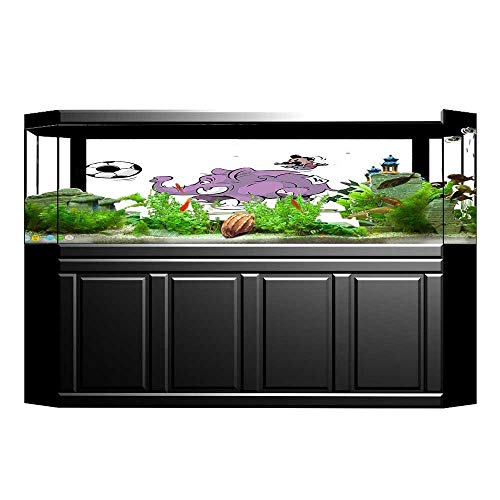 Jiahong Pan Decorative Aquarium Playing Soccer with A Kid Mario Moustache Aquarium Sticker Wallpaper Decoration L23.6 x -