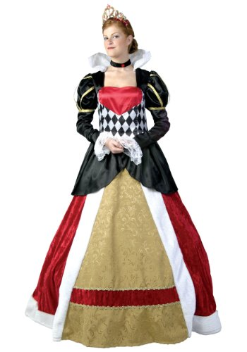 Elite Queen of Hearts Costume X-Large Black,Gold ()