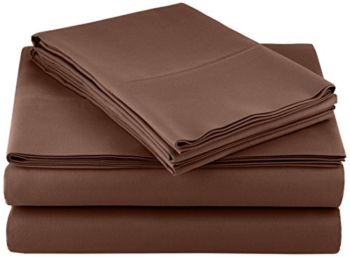 AmazonBasics Microfiber bed sheet Set - Queen, Chocolate Black Friday & Cyber Monday 2018
