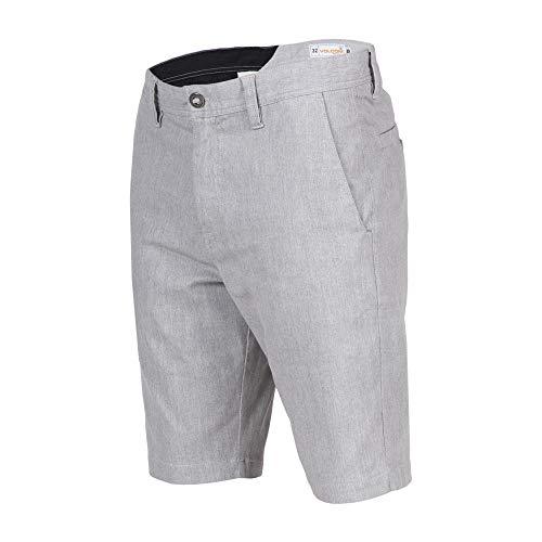 (Volcom Men's Frickin Modern Stretch Chino Short, Grey,)