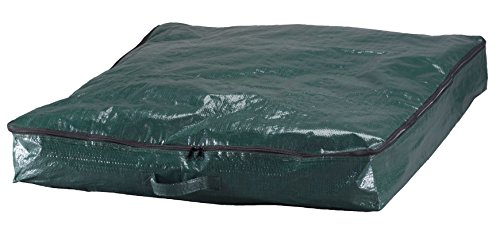 """LAMINET Pop-Up Storage Bag - Fully Fits 6 Foot Tree - Forest Green with Black Zipper - (30"""" x 30"""" x 4.5"""")"""