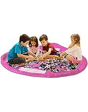 Barn leksaksförvaringsväska & lekmatta – stor leksaksförvaringsväska organisering & lekmatta för barn. Bärbar med dragsnöre för att enkelt öppna och stängas. Hållbar och lätt att rengöra. 150 cm (60 tum)