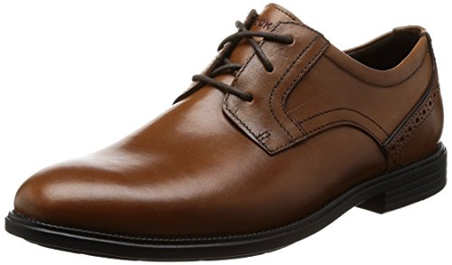 Rockport Madson Plain Toe, Scarpe Stringate Derby Uomo Marrone (Tan)