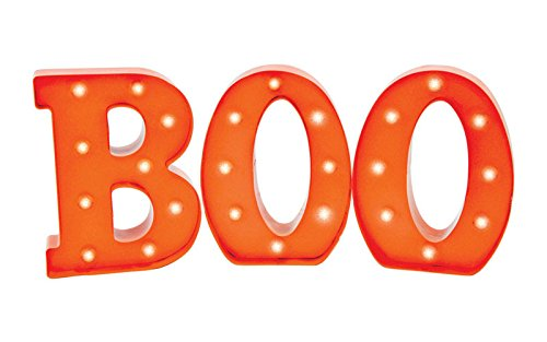 B/O Led Metal Boo Sign