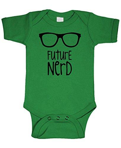 FUTURE NERD - geek dork glasses hipster - Cotton Infant Bodysuit, 6m, - Geek Hipster