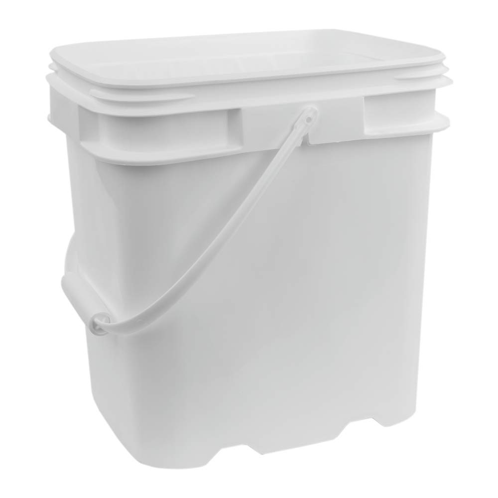 4 Gallon White EZ Stor Pail with Handle (Lids Sold Seperately)