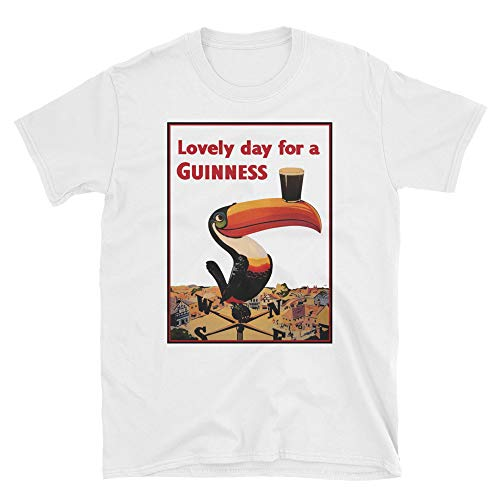 - Lovely Day for A Guinness Vintage Beer Ads Shirt White