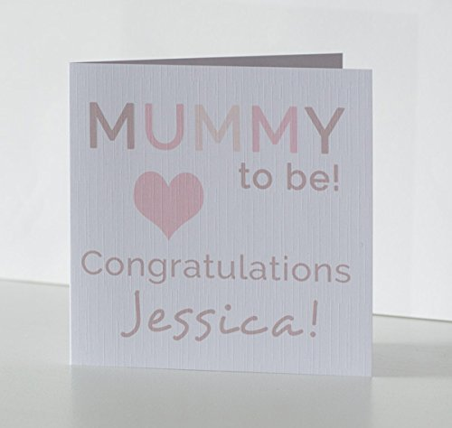 baby shower card for mum for a soon to be mummy personalised pregnancy congratulations - Pregnancy Congratulations Card