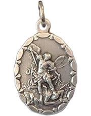 Sint-Michael de aartsengel ovale vorm medaille - de patroonheilige van politie - 100% gemaakt in Italië