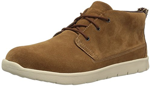 UGG Boys' K Canoe Suede Sneaker, Chestnut, 5 M US Big Kid]()