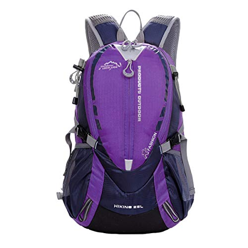 ABage 25L Lightweight Travel Hiking Backpack Durable Water Resistant Backpack for Hiking, Camping, Cycling, Purple