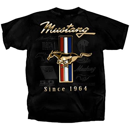 Ladies Size Ford Mustang Design T Shirt Tee Shirt Pony Tri: Ford Mustang Apparel: Amazon.com