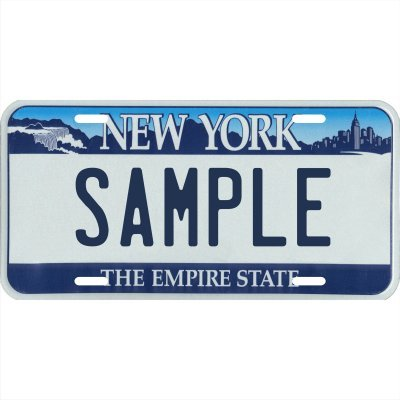 Your Name Your State Custom Metal License Plate - Choose from All 50 States (New York, 6