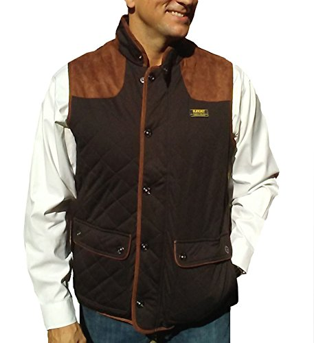 Baviera Men's Stretch Waterproof Breathable Vest, Easy Packable. Great Travel Vest (XX-Large, Brown)