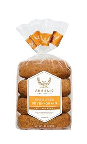 ANGELIC BAKEHOUSE Sprouted 7-Grain Hotdog Bun, 16 Ounce (Pack of 6) by Angelic Bakehouse (Image #1)