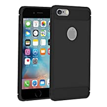 iVoler iphone 6 Plus case, Business Fit Thin Resilient Anti Skind Shockproof Protection Defense Shield Shock Absorption and Carbon Fiber Design Cover for iphone 6s Plus-Black Cases