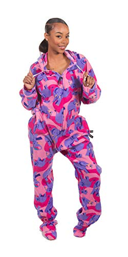(Forever Lazy Footed Adult Onesie - Elephant -)