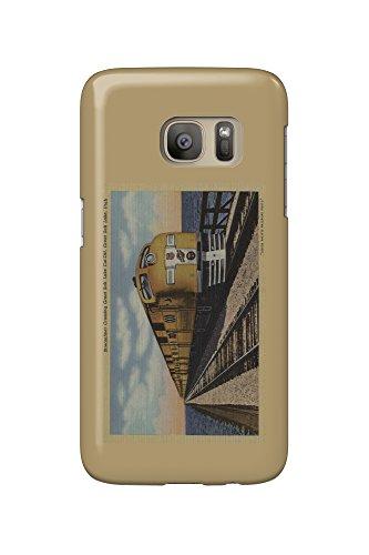 Train- Crossing Great Salt Lake, Ogden, Utah (Galaxy S7 Cell Phone Case, Slim Barely - Crossings Great Lake