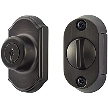 Keyed Storm Door Deadbolt Black 1 Inch Thick Door