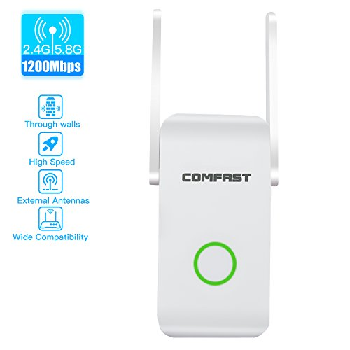 WiFi extender,WiFi booster WiFi Range Extender Wireless Repeater Internet Extender Wireless Extender Wireless Internet Booster/4-in-1 Repeater/Router/AP/Client Mode with Ethernet Port (AC1200) by Seriud