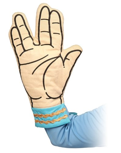 Star Trek Spock Oven Mitt - Live Long And Dont Burn Your Hands by ThinkGeek