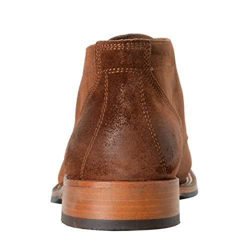 Belstaff Homme Stockwell Brun Daim Cuir Bottes Chaussures Nous 8 Il 41