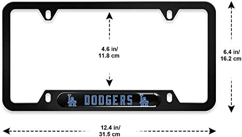SAFUL Fit Dodgers License Plate Frames Rattle-Proof Rust-Proof 2 PCS Aluminum Alloy License Plate Holder,Universal American Auto Licence Plate Frame Covers Fit LA