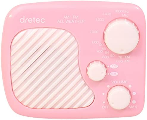 ドリテック AMFM 방적 라디오 핑크 PR-320PK / Dritek AMFM Drip-Proof Radio Pink PR-320PK