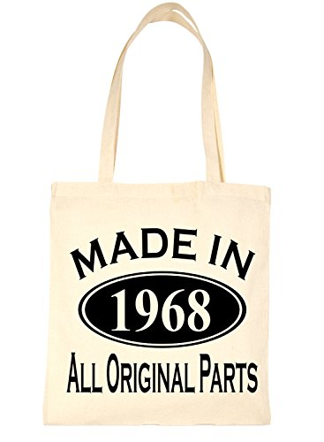 Bag Life Print4u Tote Birthday For Natural 1968 Shopping Made 50th In fxwAaCEqw