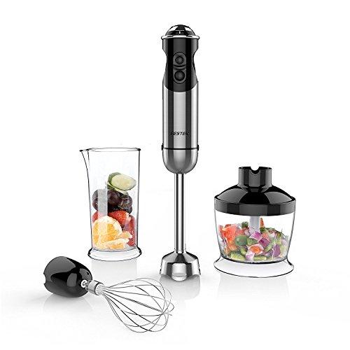 BESTEK Imersion Blender 350 W 5 Speed 4-in-1 Hand Blender for Smoothies Baby Food Yogurt Sauces Soups