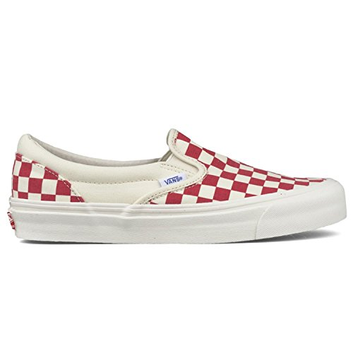 Vans Classic Slip-On Unisex (Primärchecker) Racing Rot / Weiß