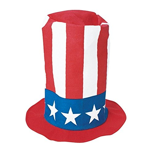 Felt Stovepipe Party Hats For Any Occasion - Funny Party Hats TM (Patriotic) - Spirit Halloween New Orleans