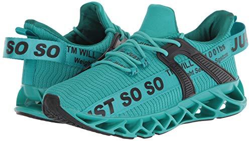 UMYOGO Mens Sneakers Slip-on Lightweight Athletic Running Walking Gym Shoes Lake Blue