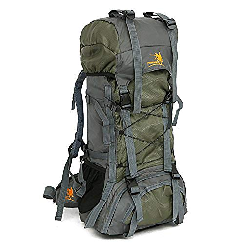 60L Internal Frame Hiking Backpack with Rain Cover,Outdoor Sport Travel Daypack for Climbing Camping Touring