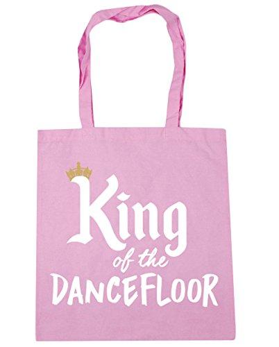 HippoWarehouse rey de la pista de baile bolsa de la compra bolsa de playa 42cm x38cm, 10litros, gris claro (gris) - 21502-TOTE-Light grey rosa (classic)