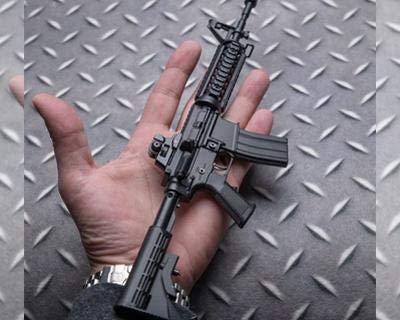 Ghost Modèle réduit d'arme factice-Maquette décorative en métal avec Support de présentation-A Collectionner : kit n°1… 5