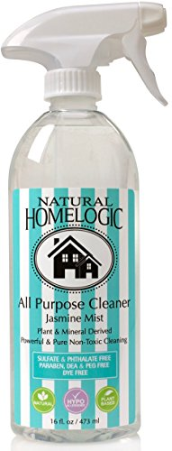 Natural HomeLogic Eco Friendly All Purpose Cleaner, 16 fl oz | Non-Toxic, No Sulfates, No Fumes, Safe, and Powerful Formula For A Natural Clean (1 Pack, Jasmine Mist)