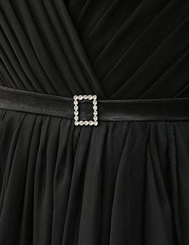 2 Schwarz Farbverlauf Festkleider Hochzeitskleider Ballkleider Abendkleider Linie Chiffon A Lang Damen qvW6P