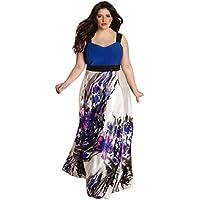 howstar Womens Plus tamaño halter floral impreso Wear a trabajar de largo Maxi vestido