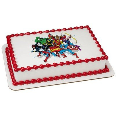 Marvel Comics Edible Cake Topper or Cupcake Topper Decorations (7.5