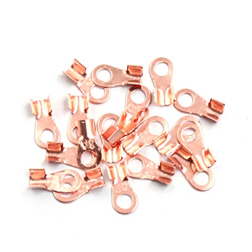 Sourcingmap 20pcs 3A Copper Ring Terminals Lug Battery Cable Connector: