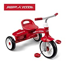 The red rider trike offers convenience, comfort, and fun! this sturdy trike features steel construction, chrome handlebars, and quiet ride wheels. The adjustable seat ensures your child will enjoy the trike for years. PLUS, it comes with a fu...
